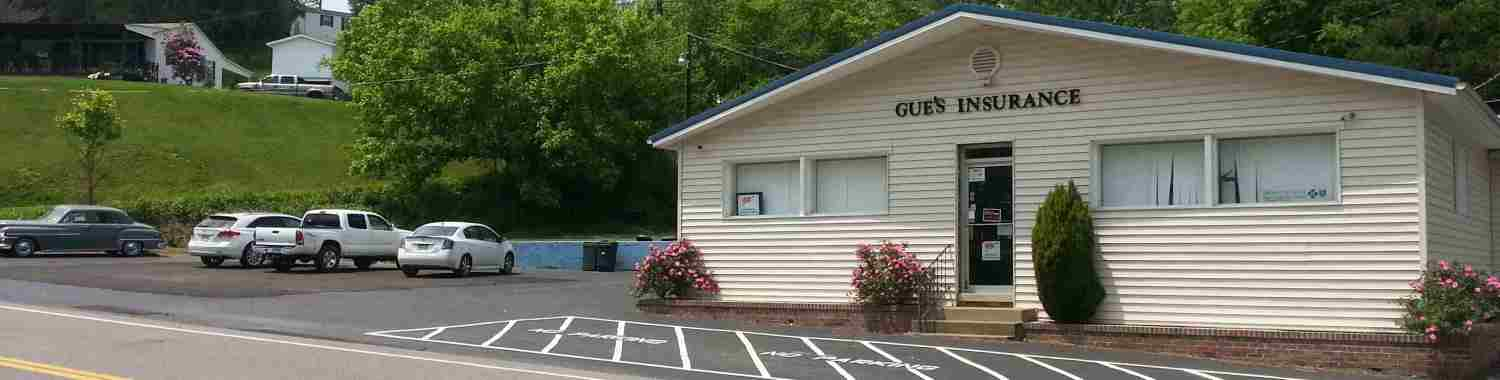 Gue's Insurance Service office on Rt 10 in Salt Rock, WV